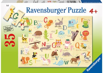 RAVENSBURGER A-Z ANIMALS 35PC PUZZLE | RAVENSBURGER | Toyworld Frankston
