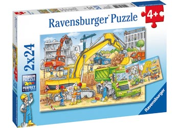PUZZLE 2 X 24 HARD AT WORK - Toyworld Frankston