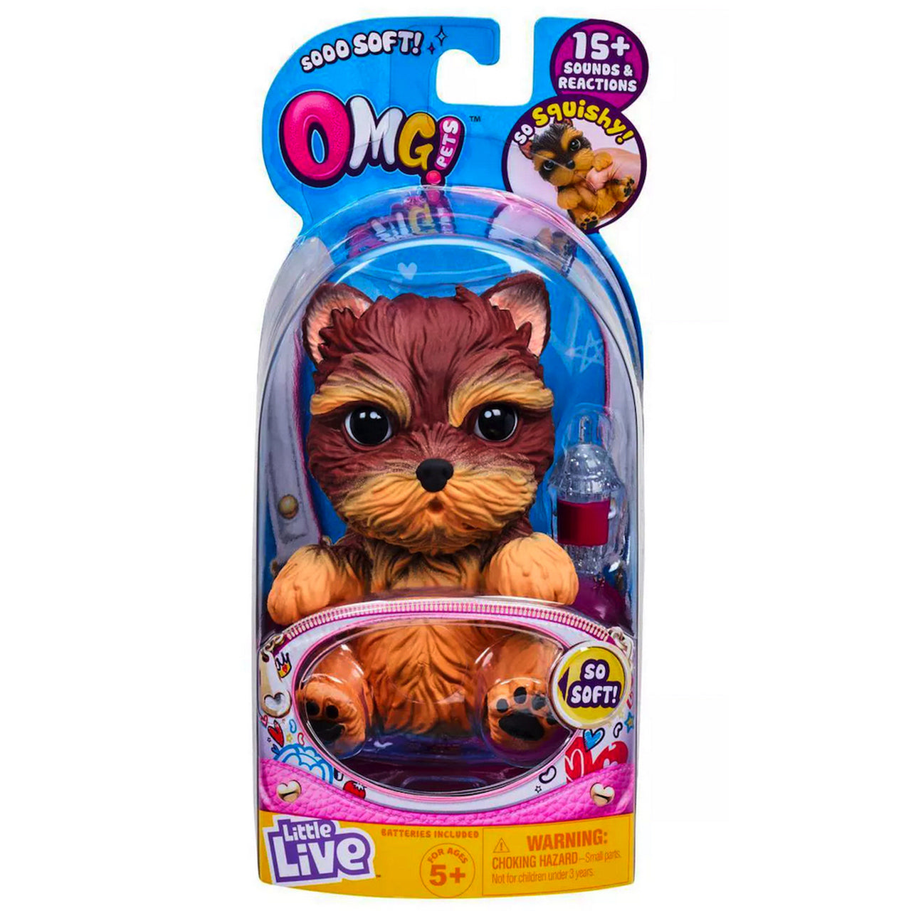 LITTLE LIVE OMG PETS DOGS  - SCRUFFY BROWN | LITTLE LIVE PETS | Toyworld Frankston