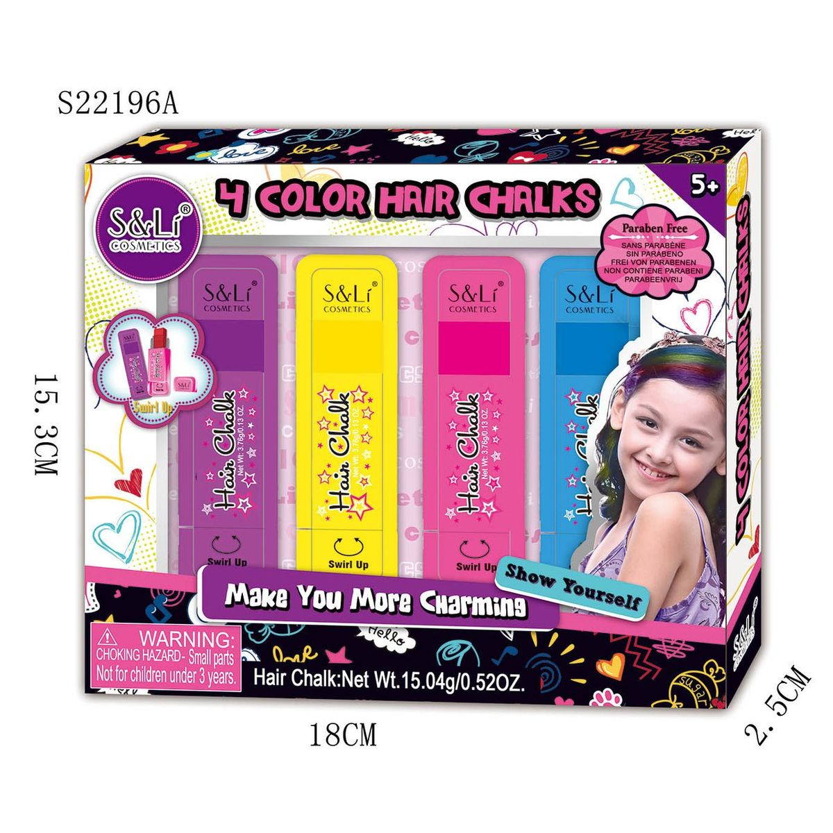 MY BEAUTY HAIR CHALK SET
