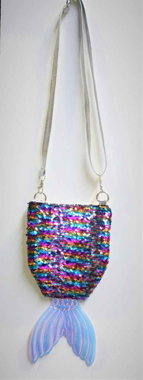 MULTICOLOURED SEQUIN MERMAID TAIL BAG