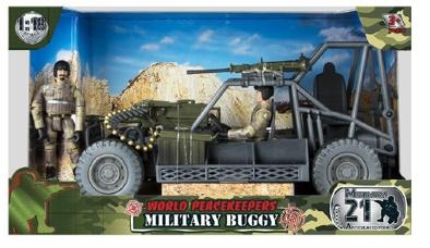 WORLD PEACEKEEPERS MILITARY BUGGY WITH 2 FIGURES
