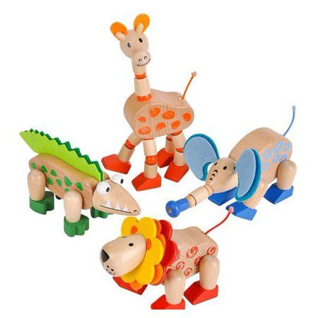 WOODEN FLEXI JUNGLE ANIMAL | Toyworld Frankston | Toyworld Frankston