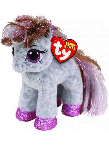 BEANIE BOO REG CINNAMON SPOTTED PONY | TY BEANIES | Toyworld Frankston