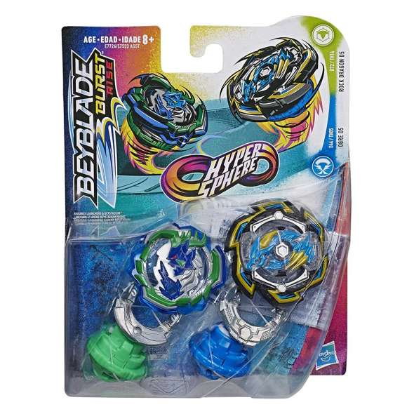 BEYBLADE HYPERSPHERE DUAL PACK  HS ROCK DRAGON D5 AND OGRE O5 - Toyworld Frankston
