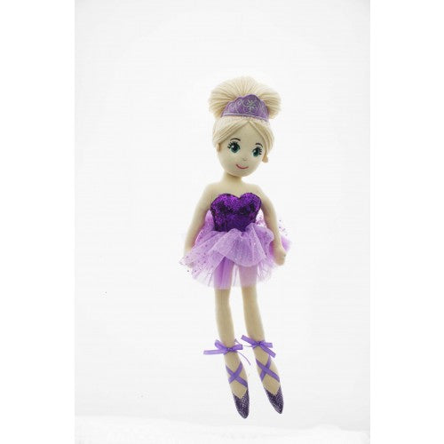 45CM CORA PURPLE SEQUIN BALLERINA