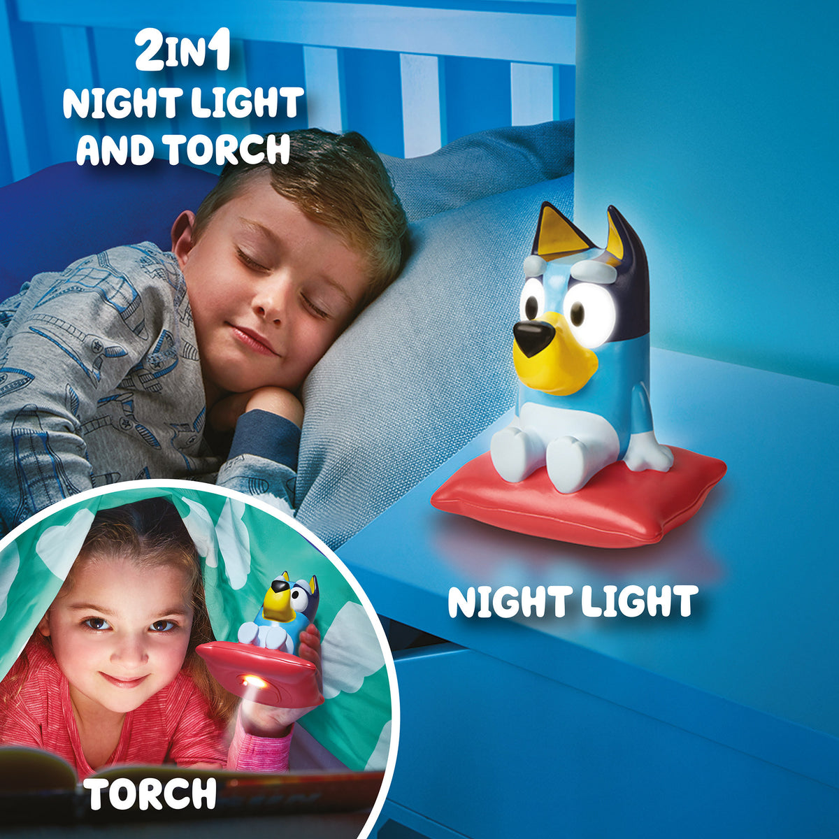 GO GLOW BLUEY 2 IN 1 LIGHT AND TORCH - BLUEY