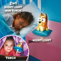 GO GLOW BLUEY 2 IN 1 LIGHT AND TORCH - BINGO