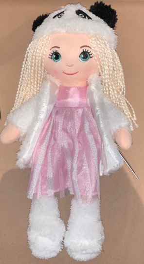 DOLL CHARLIE PINK DRESS PANDA