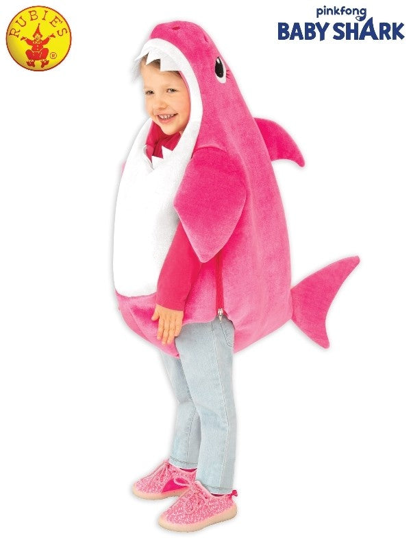 MUMMY SHARK DELUXE COSTUME PINK - SIZE TODDLER