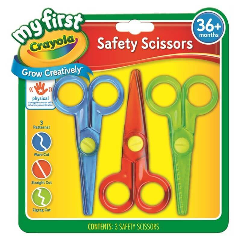 3 MY FIRST SAFETY SCISSORS 3 PATTERNS | CRAYOLA | Toyworld Frankston