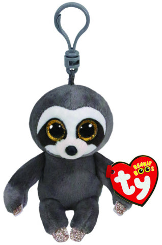 BEANIE BOO DANGLER GREY SLOTH CLIP | Toyworld Frankston | Toyworld Frankston