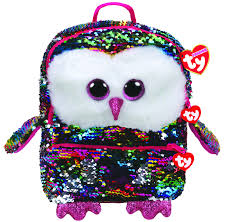 TY GEAR SEQUINS - OWEN OWL BACKPACK
