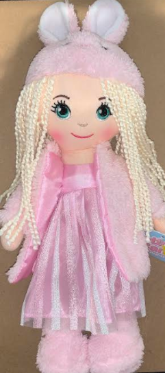 DOLL ELLA PINK DRESS BUNNY