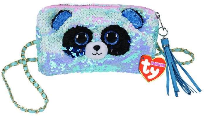 TY GEAR SEQUINS BAMBOO PURSE SQUARE
