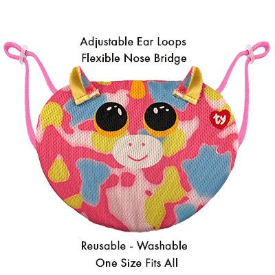 TY BEANIE BOOS MASK - FANTASIA MULTI UNICORN