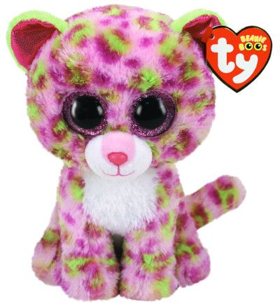 BEANIE BOOS LAINEY PINK LEOPARD REG | Toyworld Frankston | Toyworld Frankston