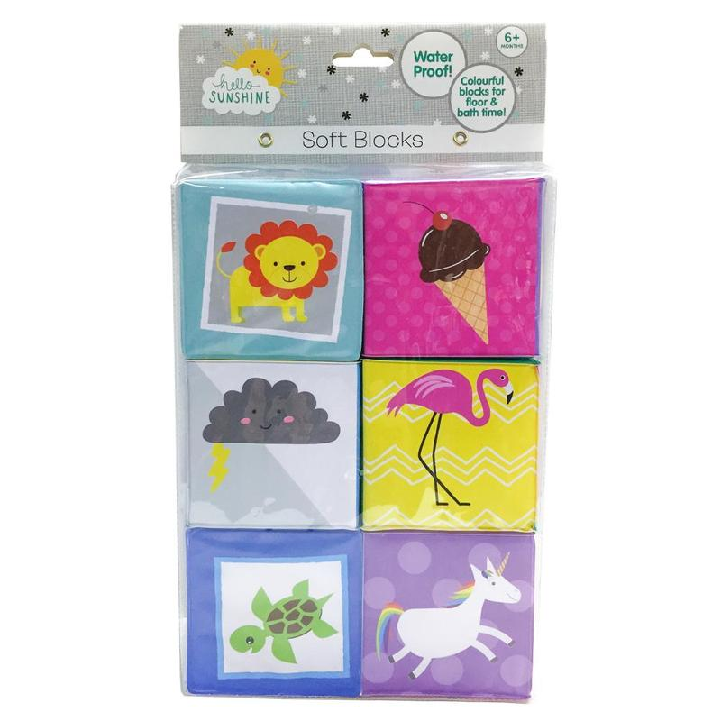 HELLO SUNSHINE SOFT BATH BLOCKS 6 PACK | Toyworld Frankston | Toyworld Frankston