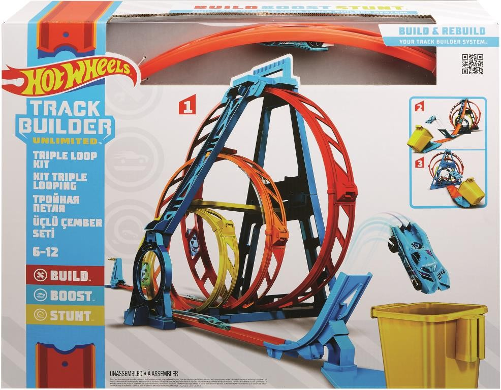 HOT WHEELS TRACK BUILDER ULTIMATE TRIPLE LOOP