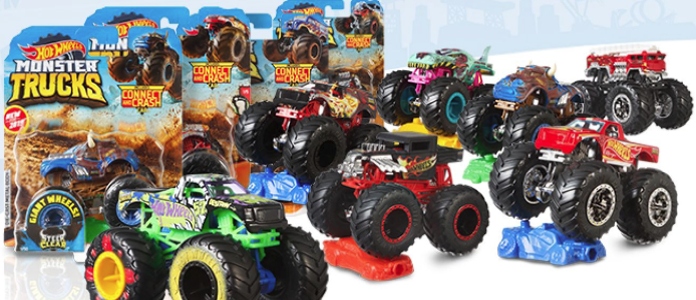 HW MONSTER TRUCKS 1:64 ASSORTMENT | HOT WHEELS | Toyworld Frankston