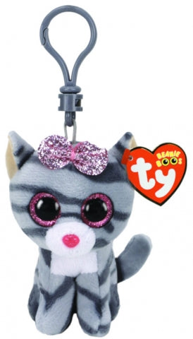 BEANIE BOOS CLIP ON KIKI GREY CAT | Toyworld Frankston | Toyworld Frankston