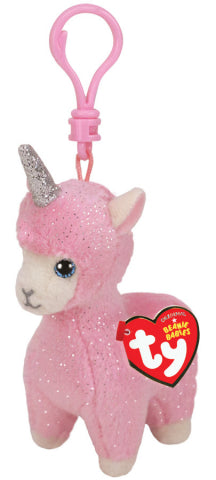 BEANIE BOOS CLIPS LANA PINK LlAMA | Toyworld Frankston | Toyworld Frankston