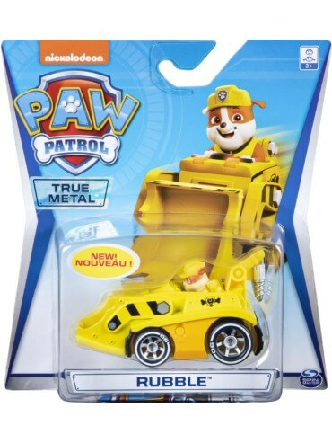 PAW PATROL METAL VEHICLE MIGHTY PUPS ASSORTMENT RUBBLE