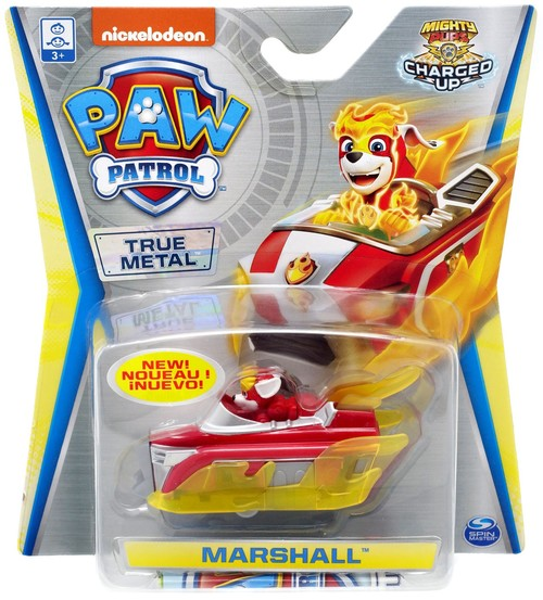 PAW PATROL METAL VEHICLE MIGHTY PUPS ASST MARSHALL