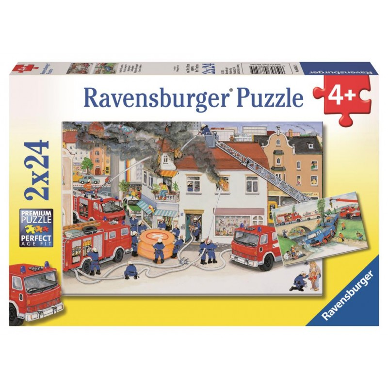 RBURG BUSY FIRE BRIGADE PUZZLE 24 PC | Toyworld Frankston | Toyworld Frankston