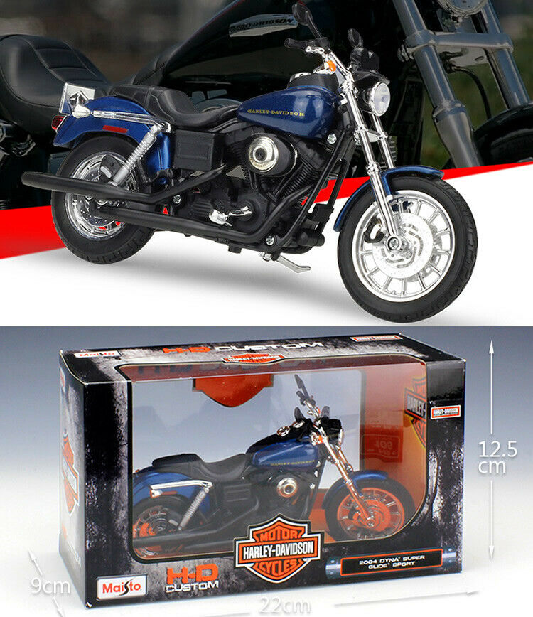 MAISTO 1:12 H-D MOTORCYCLES - 2004 DYNA SUPER GLIDE SPORT