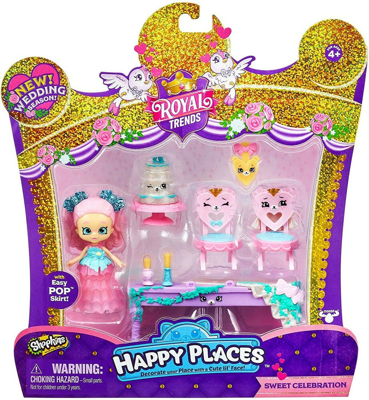 SHOPKINS HAPPY PLACES HAPPY SCENE PK - SWEET CELEBRATIOND