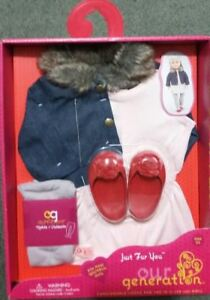 OUR GENERATION JEAN JACKET & FUR COLLAR JUST FUR YOU | OUR GENERATION | Toyworld Frankston