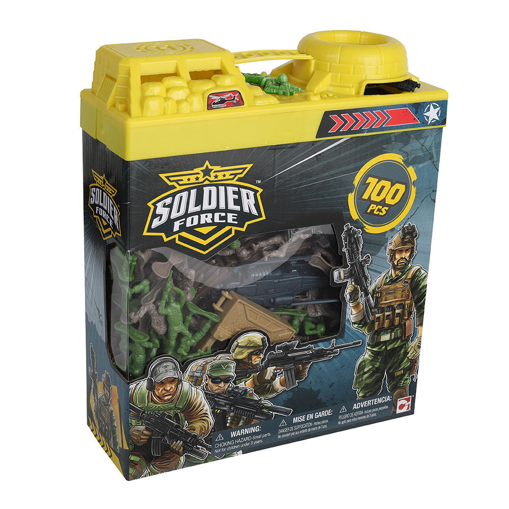 SOLDIER FORCE BUCKET PLAYSET - 100 PIECES
