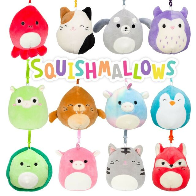 SQUISHMALLOWS 3.5 INCH CLIP ON SEALIFE ASST