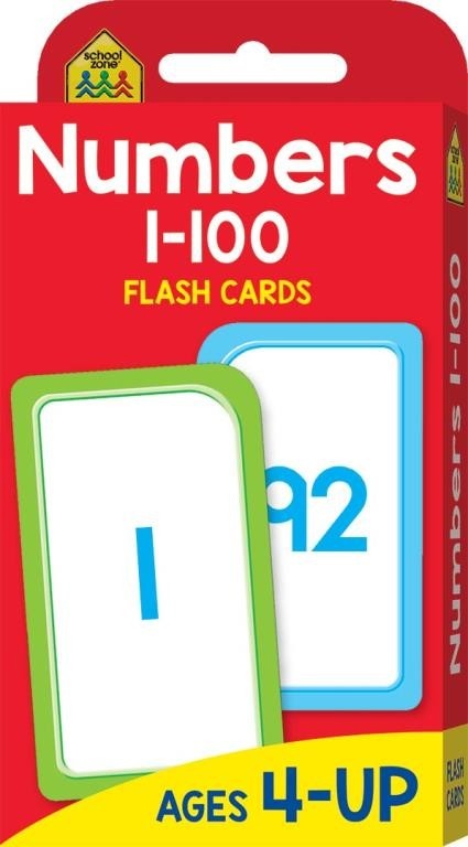 SCHOOL ZONE: NUMBERS 1-100 FLASHCARDS