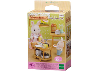 SF - KITCHEN COOKWARE SET | SYLVANIAN FAMILIES | Toyworld Frankston