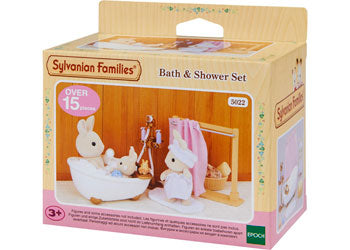 SF - BATH & SHOWER SET | SYLVANIAN FAMILIES | Toyworld Frankston