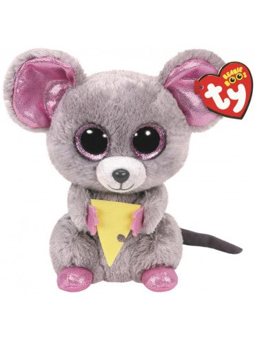 BEANIE BOO REG SQUEAKER MOUSE WITH CHEESE | TY BEANIES | Toyworld Frankston