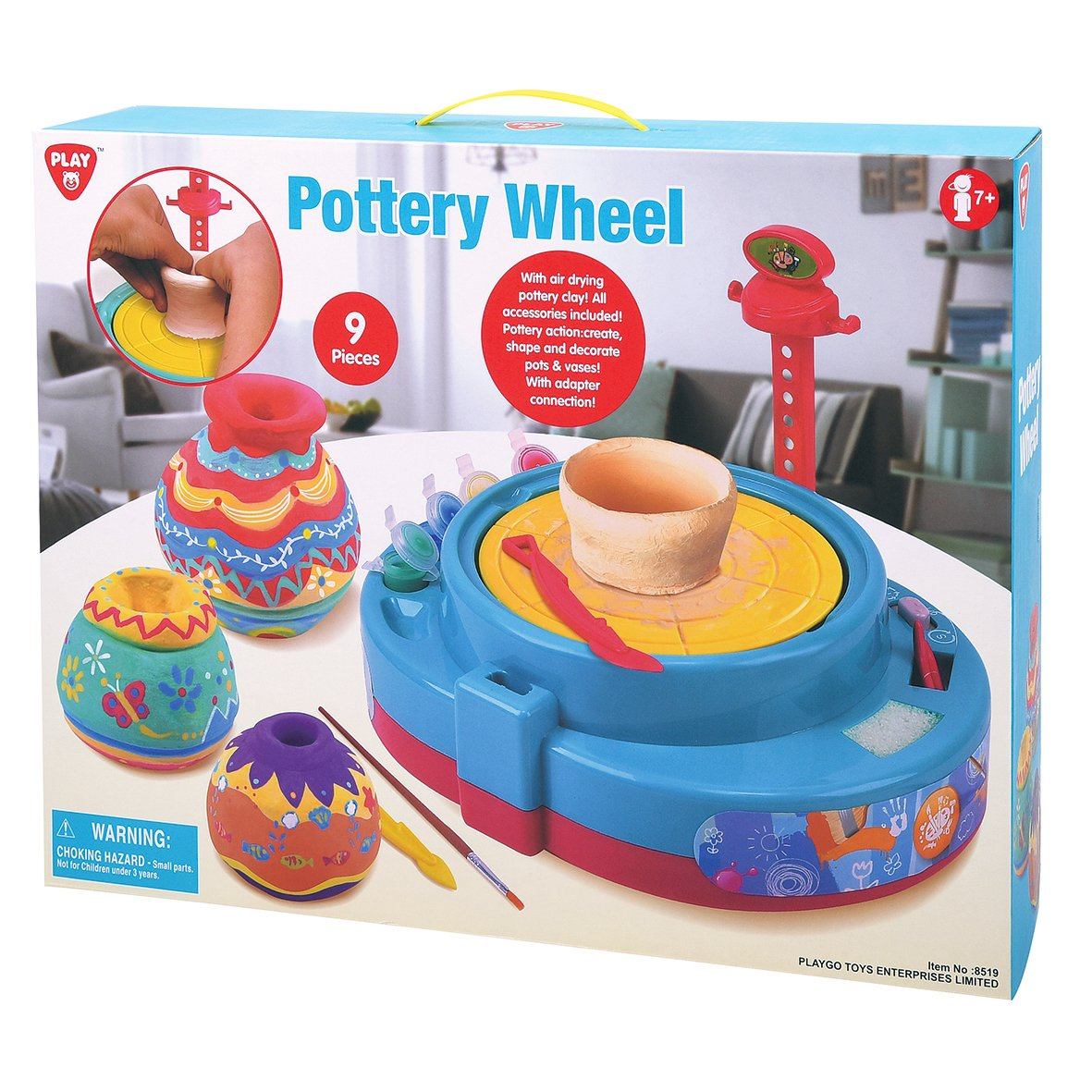 PLAYGO POTTERY WHEEL BATTERY OPERATED 9PCS