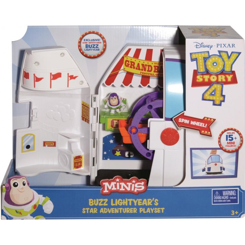DISNEY PIXAR TOY STORY MINIS BUZZ LIGHTYEARS STAR ADVENTURER PLAYSET