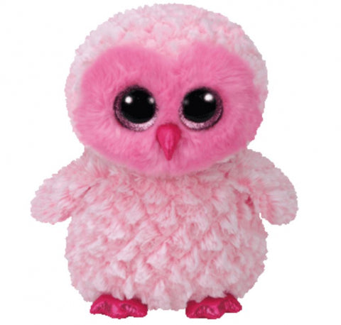 BEANIE BOO LARGE TWIGGY PINK OWL | Toyworld Frankston | Toyworld Frankston