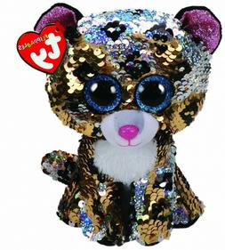 BEANIE BOOS SEQUINS STERLING THE LEOPARD REG | TY BEANIES | Toyworld Frankston