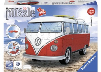 RAVENSBURGER - VW KOMBI BUS 3D MODEL 162PC | RAVENSBURGER | Toyworld Frankston