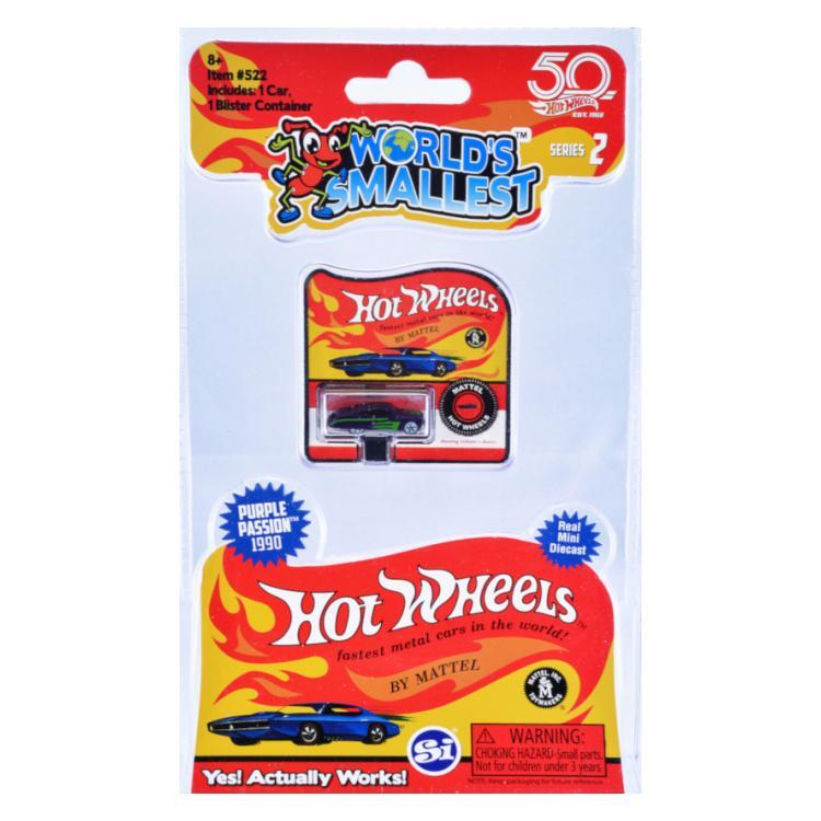 WORLD'S SMALLEST HOT WHEELS ASST