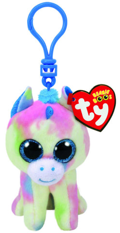BEANIE BOO BLITZ BLUE UNICORN CLIP | TY BEANIES | Toyworld Frankston