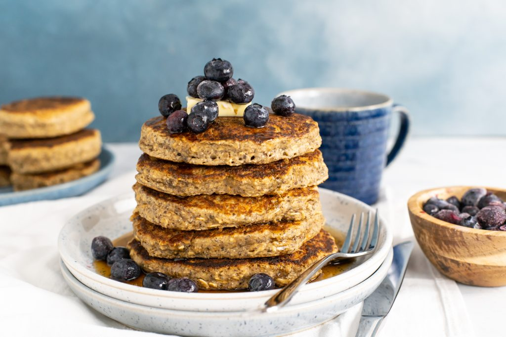 Oatmeal Pancakes with Flax and Chia Seeds