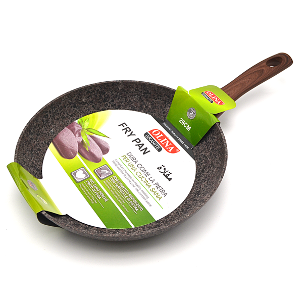 Brown 26cm Frying Pan in Granite