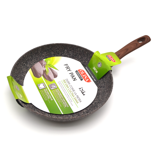 Brown 28cm Frying Pan in Granite