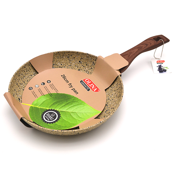 Beige 26cm Frying Pan in Granite