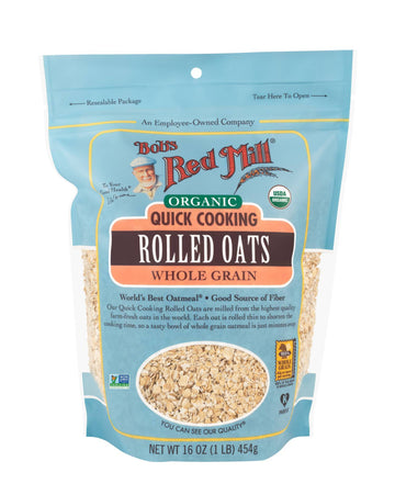 Organic Oats Rolled Quick (454G)